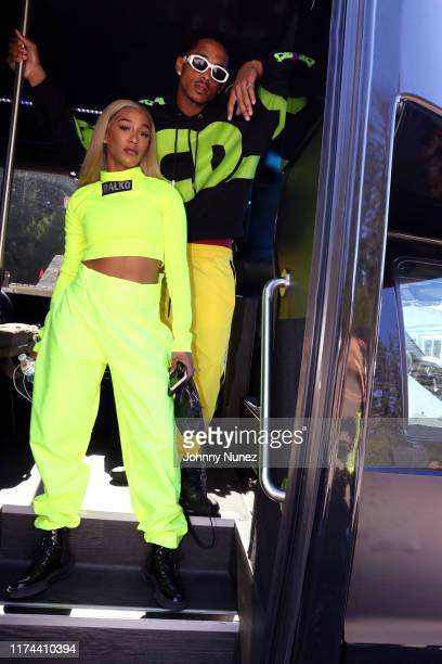 and Cordell Broadus attend the Starstudded Adventure Ride hosted by Polaris Slingshot And RZR on September 12 2019 in Tenmile Oregon