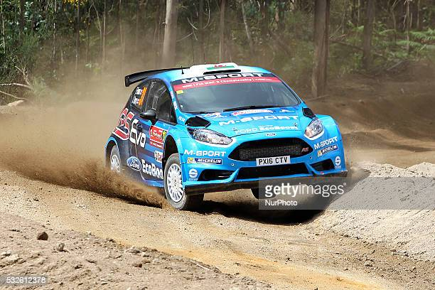 EVANS and CRAIG PARRY in FORD FIESTA R5 of team MSPORT WORLD RALLY TEAM in action during the shakedow of the WRC Vodafone Rally Portugal 2016 in...