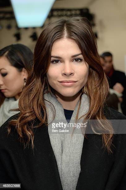 CEO and Creative Director Into The Gloss Emily Weiss attends the Derek Lam fashion show during MercedesBenz Fashion Week Fall 2015 at Pace Gallery on...