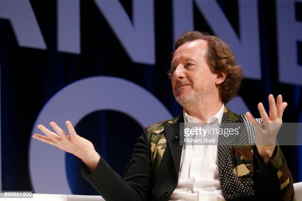 CEO and Creative Director of Syn Music Nick Wood speaks during the 'Beyond An Ordinary World' seminar during the Cannes Lions Festival 2017 on June...