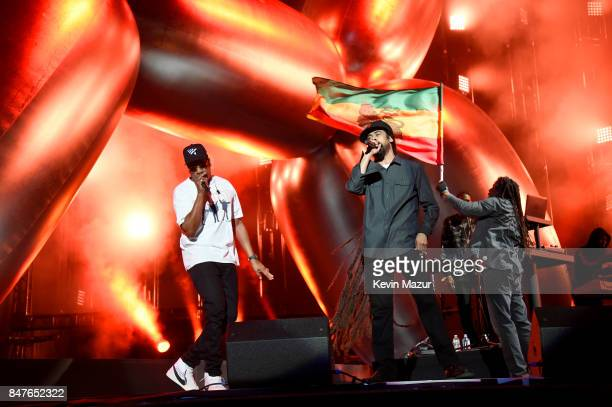 Z and Damian Marley perform onstage during the Meadows Music And Arts Festival Day 1 at Citi Field on September 15 2017 in New York City
