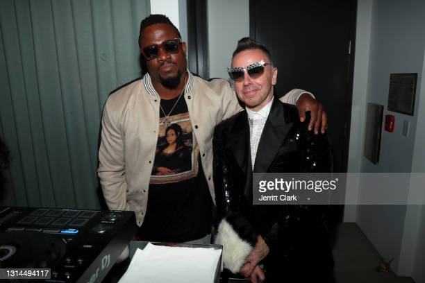 And Damon Peruzzi attend Spring Place's Oscars party honoring Andra Day and the cast of The United States vs. Billie Holiday on April 26, 2021 in...