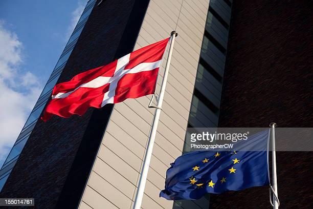 EU and Danish flags