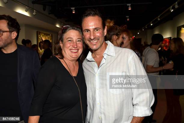 and David Schlachet attend IV New York Gallery Grand Opening Exhibition on September 14 2017 in New York City