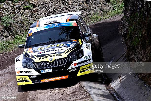 ORS��K and DAVID SMEIDLER in SKODA FABIA S2000 of GPD ORSAK RALLY SPORT during the shakedown qualifying stage FIA ERC Sata Rallye A��ores 2015 at...