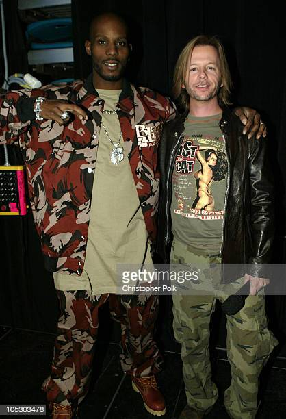 DMX and David Spade during First Annual Spike TV Video Game Awards Show and Backstage at MGM Grand Casino in Las Vegas Nevada United States