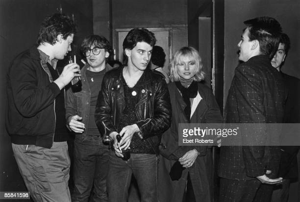 S Photo of BLONDIE and Debbie HARRY and The CURE and Simon GALLUP and Lol TOLHURST and Robert SMITH Debbie Harry with Simon Gallup Robert Smith and...