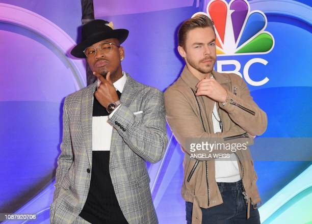 NEYO and Derek Hough attend the NBC midseason press junket at The Four Seasons in New York on January 24 2019
