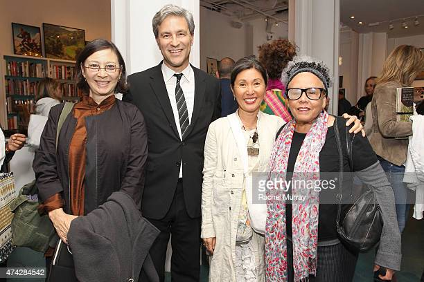 LACMA CEO and Director Michael Govan dosa designer Christina Kim and artist Betye Saar attend LACMA's Director Circle debuts the Spring 2015 Wear...