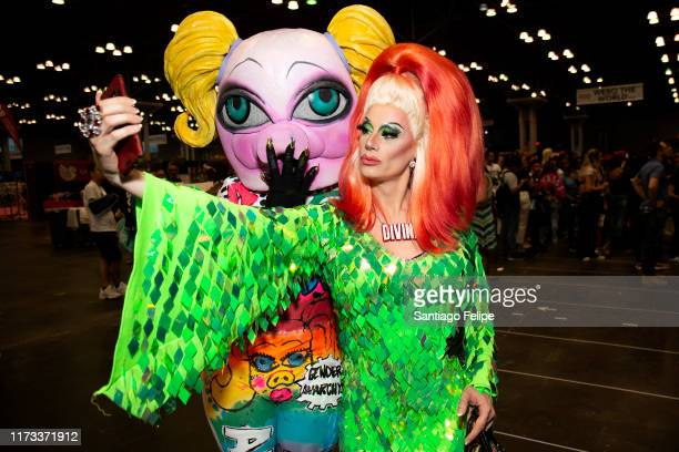 QWERRRK and Divina De Campo attend RuPaul's DragCon 2019 at The Jacob K Javits Convention Center on September 08 2019 in New York City