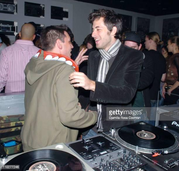 DJ AM and DJ Mark Ronson during Party at Stereo in New York City November 26 2005 at Stereo in New York City New York United States