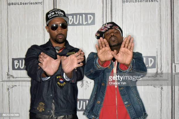 and DJ Mathematics attend Build series to discuss 'WuTang The Saga Continues' at Build Studio on October 16 2017 in New York City
