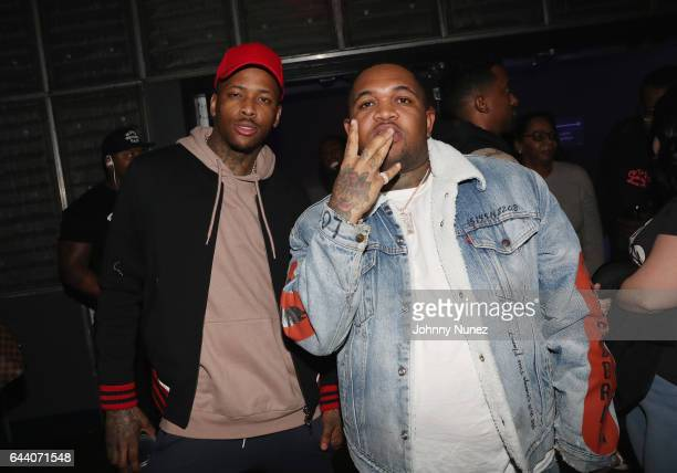 YG and DJ Mustard attend Khelani Sweet Sexy Savage Dinner at Dos Caminos on February 22 2017 in New York City
