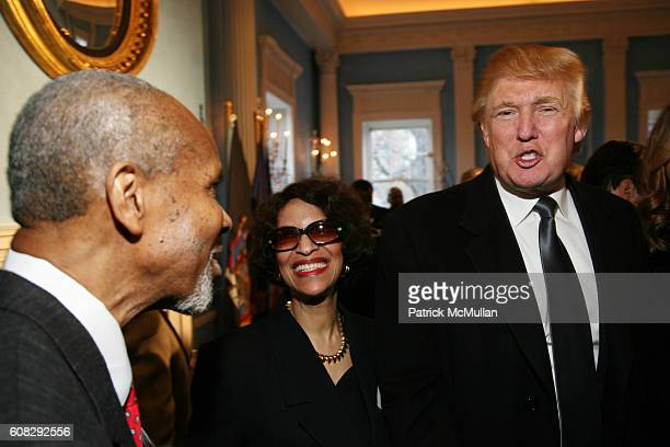 and Donald Trump attend CHARLES B RANGEL Book Party Hosted by MAYOR MICHAEL BLOOMBERG at Gracie Mansion on April 10 2007 in New York City