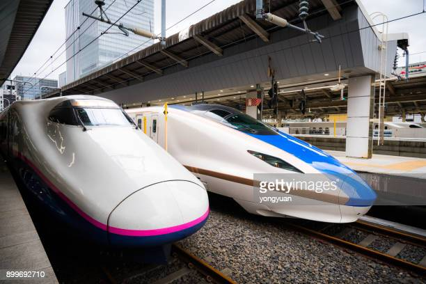 E2 and E7 Series Shinkansen at Tokyo Station