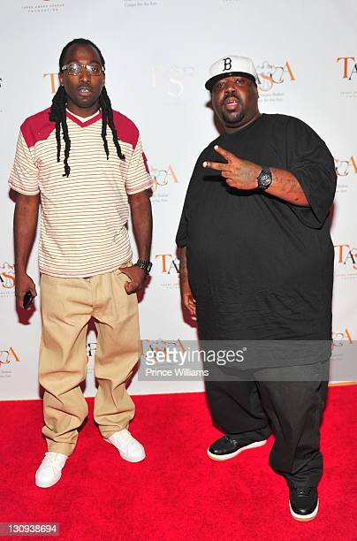 MJG and Eight Ball attends Tupac's 40th Birthday Celebration at the Atlanta Symphony Hall on June 16 2011 in Atlanta Georgia