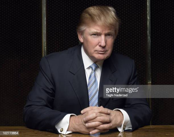 CEO and entrepreneur Donald Trump poses for a spec shoot portrait session in his office in New York City on October 7 2006