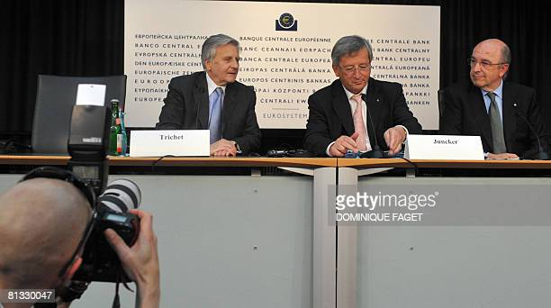 and European Central Bank President JeanClaude Trichet Luxembourg Prime Minister JeanClaude Juncker who chairs the Eurogroup of eurozone finance...