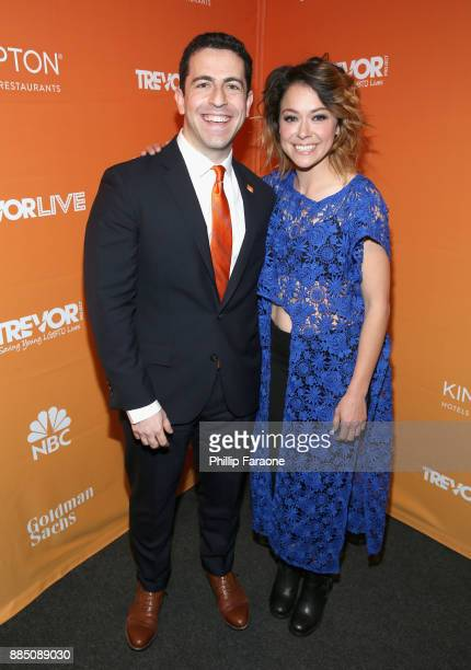 CEO and Executive Director at The Trevor Project Amit Paley and Tatiana Maslany attend The Trevor Project's 2017 TrevorLIVE LA Gala at The Beverly...