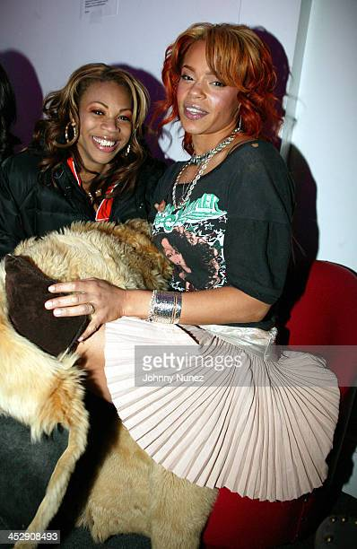 DJ EQ and Faith Evans during Power 105 FM's 3rd Anniversary Party Celebrating Notorious BIG at Exit in New York City New York United States