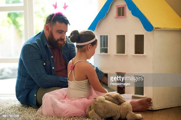 and father of the year award goes to... - dollhouse stock pictures, royalty-free photos & images