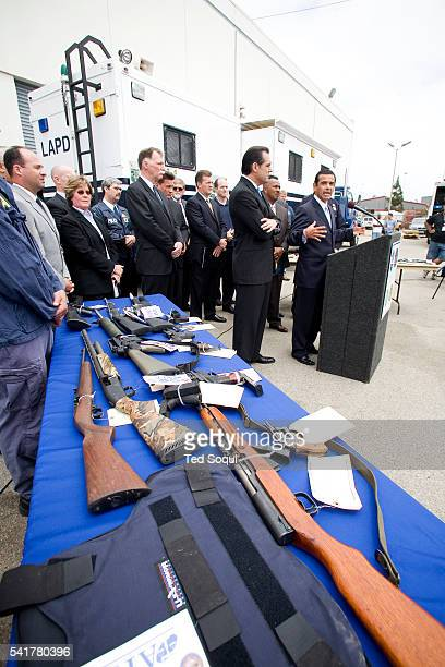 LAPD and Federal authorities including the ATF and ICE make arrest and seize property in a major strike against gangs and drug trafficking Twentytwo...