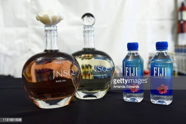JNSQ and Fiji products on display during the 2019 Film Independent Spirit Awards on February 23 2019 in Santa Monica California