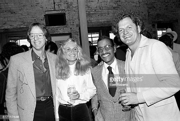 TV and Film producer and music manager Ken Kragen Kim Carnes Sammy Davis Jr and Harry Chapin at a Kenny Rogers party in Brooklyn New York on...