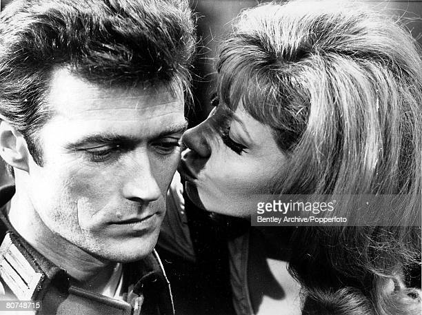 TV and Films 16th February 1968 London England US film actor Clint Eastwood is pictured with costar Ingrid Pitt during the filming of Where Eagles...