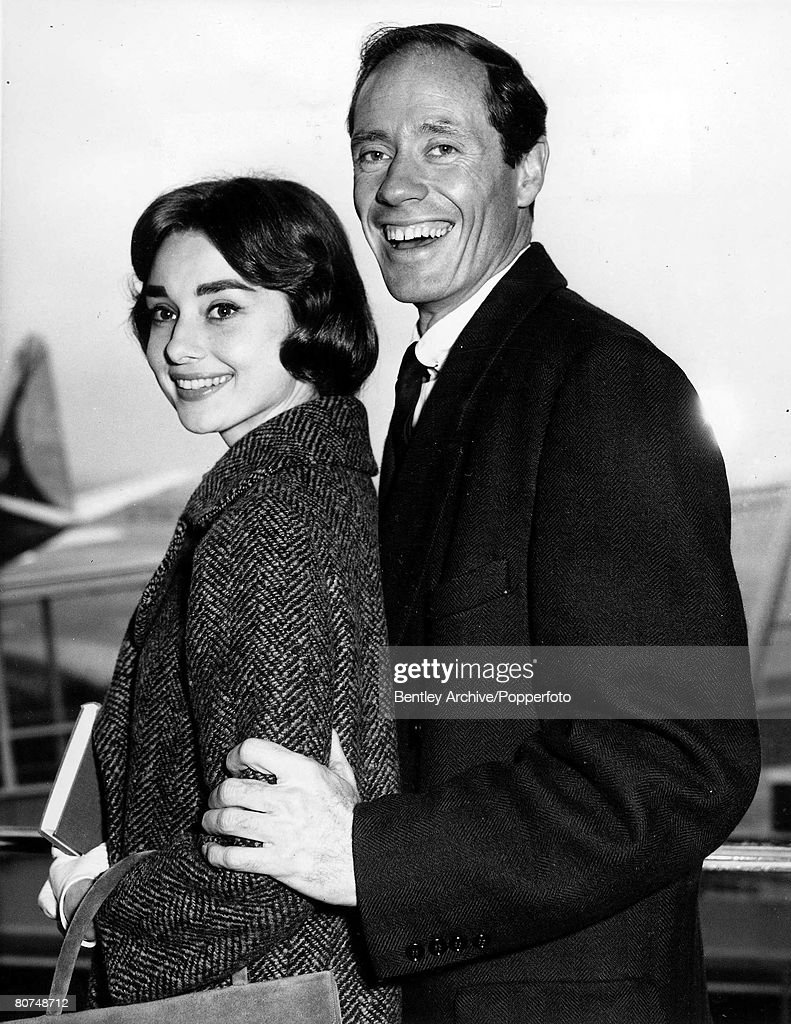 T,V, and Films, 16th November 1956, London, England, A picture of legendary Belgian born American actress Audrey Hepburn and her first husband Mel Ferrar