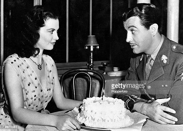 TV and Films 17th February 1940 Hollywood California USA Vivien Leigh the British film actress who played Scarlett O'Hara in the film Gone with the...