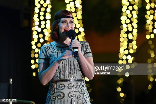 TCM and Filmstruck Host Alicia Malone speaks onstage at the screening of 'The Roaring Twenties' during Day 2 of the 2018 TCM Classic Film Festival on...