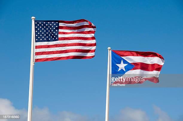 Bandera de los Estados Unidos y Puerto Rico