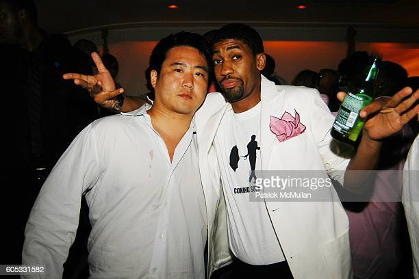 and Fonzworth Bentley attend DJ Cassidy and Fonzworth Bentley Host BUNNY CHOW Sunday at CAIN Southampton Club on May 28 2006 in Southampton NY