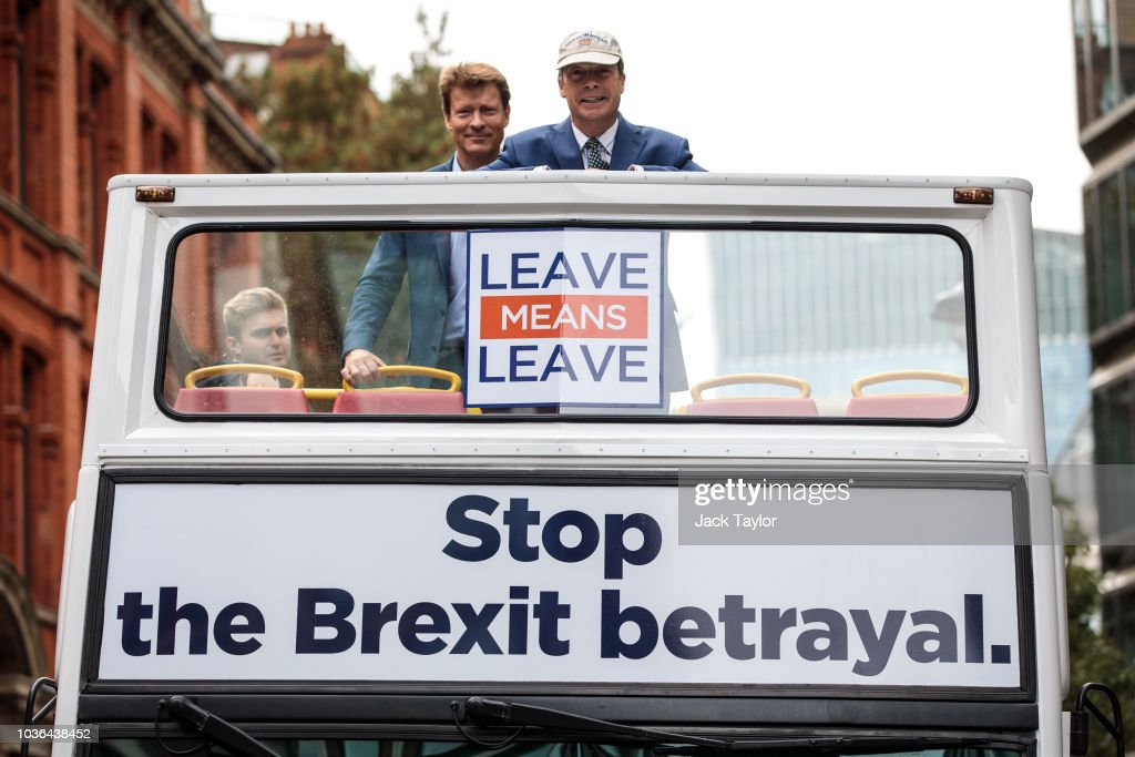 Nigel Farage Launches Leave Means Leave Campaign In London