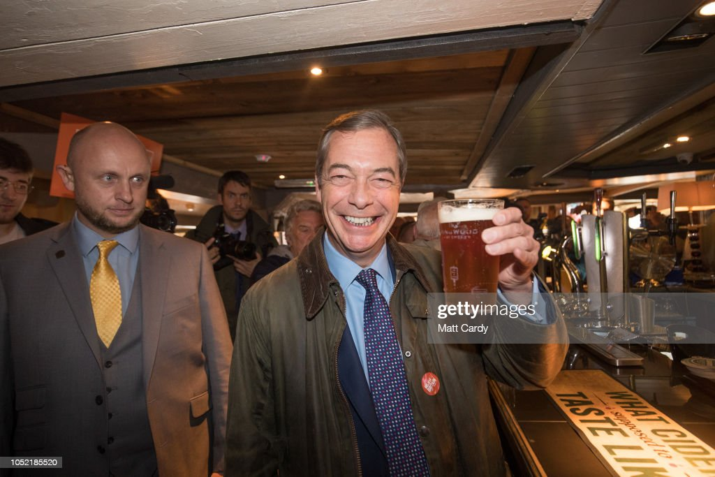 The DUP Joins Nigel Farage For Bournemouth Save Brexit Rally : News Photo
