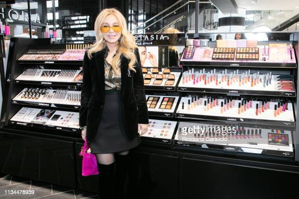 CEO and founder of Anastasia Beverly Hills Anastasia Soare arrives to Meet Greet Anastasia Beverly Hills At Sephora Milano Duomo on March 08 2019 in...