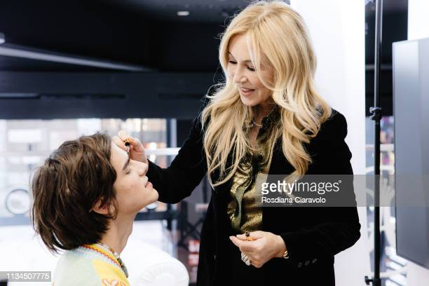 CEO and founder of Anastasia Beverly Hills Anastasia Soare during an interview At Sephora Milano Duomo on March 08 2019 in Milan Italy
