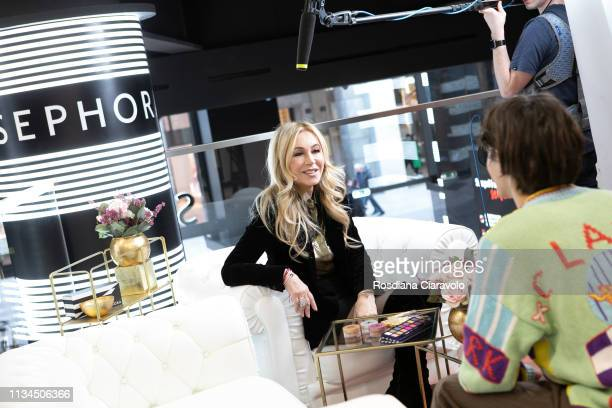 CEO and founder of Anastasia Beverly Hills Anastasia Soare gives an interview At Sephora Milano Duomo on March 08 2019 in Milan Italy