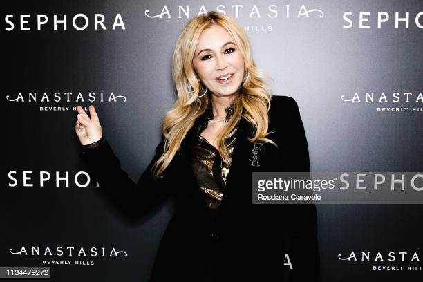 CEO and founder of Anastasia Beverly Hills Anastasia Soare poses At Sephora Milano Duomo on March 08 2019 in Milan Italy