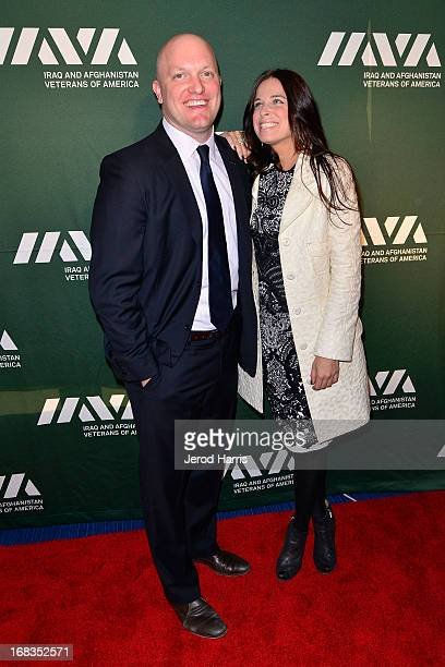 CEO and Founder of IAVA Paul Rieckhoff and Lauren Hale attend IAVA's fifth annual Heroes celebration at Mr C Beverly Hills on May 8 2013 in Beverly...