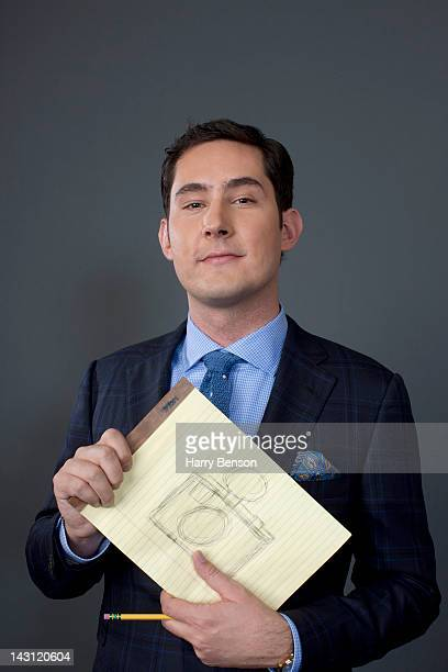 CEO and founder of Instagram Kevin Systrom poses for Forbes Magazine on December 12 2011 in New York City