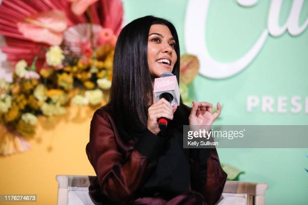 CEO and founder of Poosh Kourtney Kardashian speaks onstage the Create Cultivate Conference at SVN West on September 21 2019 in San Francisco...