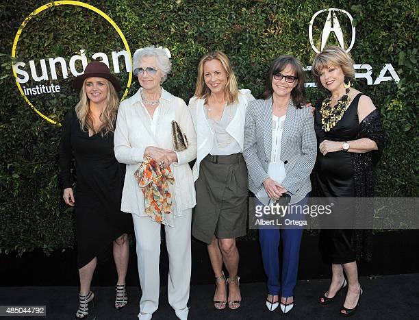 CEO and founder of The Communication Group Clare Munn Christina KummerHardt actors Maria Bello Sally Field and Sundance Institute board chair Pat...