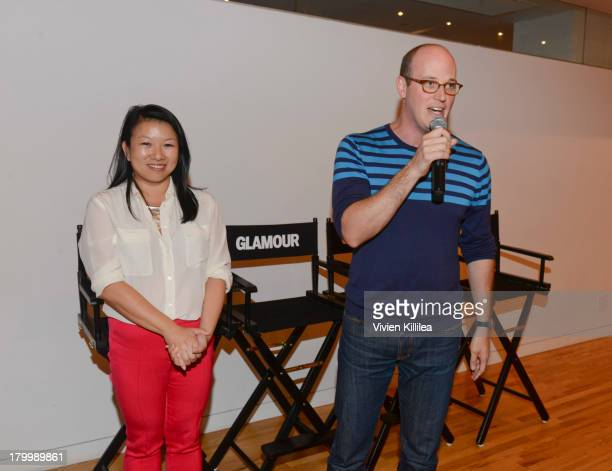 And Founder of Zola Shan-Lyn Ma and executive digital director at Glamour Magazine Mike Hofman attend Glamour And CFDA Host Dressed To Code: A...