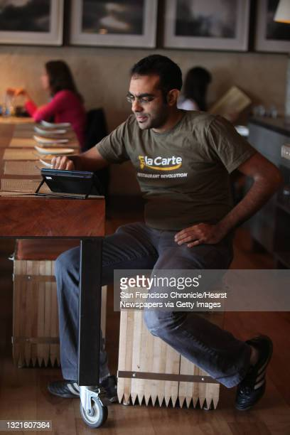 And founder Rajat Suri of E la Carte which makes a new tablet that restaurants can put at every table for do-it-yourself ordering and paying the...