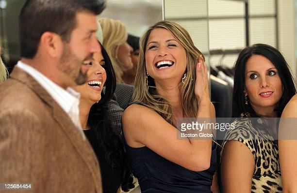 SHOE and From Fenway to the Runway from left to right Linda Pizzuti Henry Catherine Panagiotopoulos and Tiffany Ortiz laugh as Catherine's fiance...