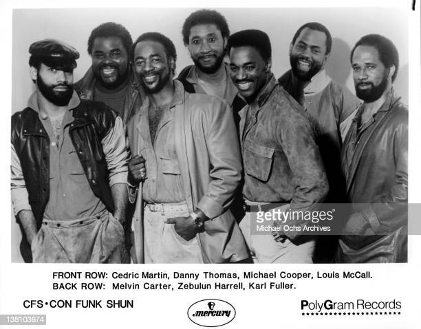B and funk band Con Funk Shun pose for a publicity portrait in 1986