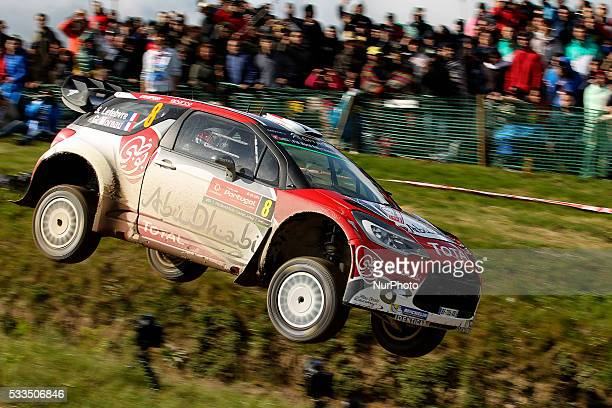 LEFEBVRE and GABIN MOREAU in CITROEN DS3 WRC of team ABU DHABI TOTAL WORLD RALLY TEAM in action during the SS17 Fafe of the WRC Vodafone Rally...