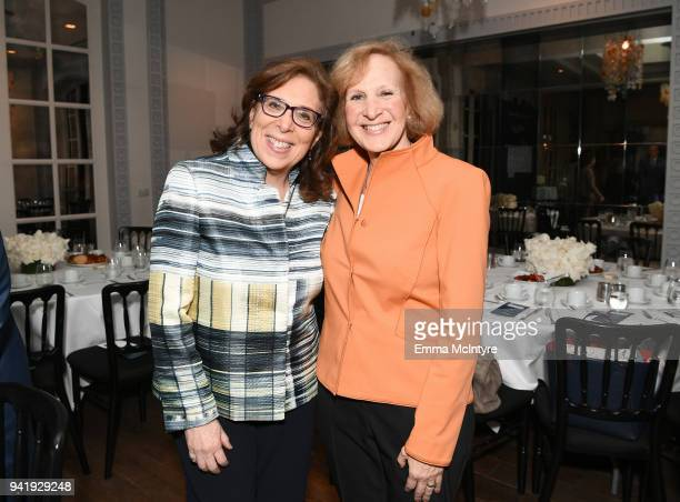 EVP and General counsel at Showtime Networks Inc Gwen Marcus and New York Peace Institute Mediator Nancy Alpert attend The Hollywood Reporter Power...